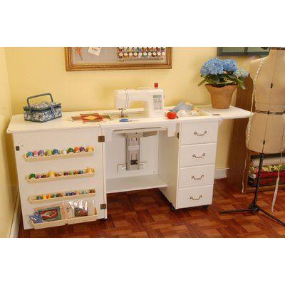 Crea 58 13 W X 23 63 D Sewing Table Folding Tables Handicraft
