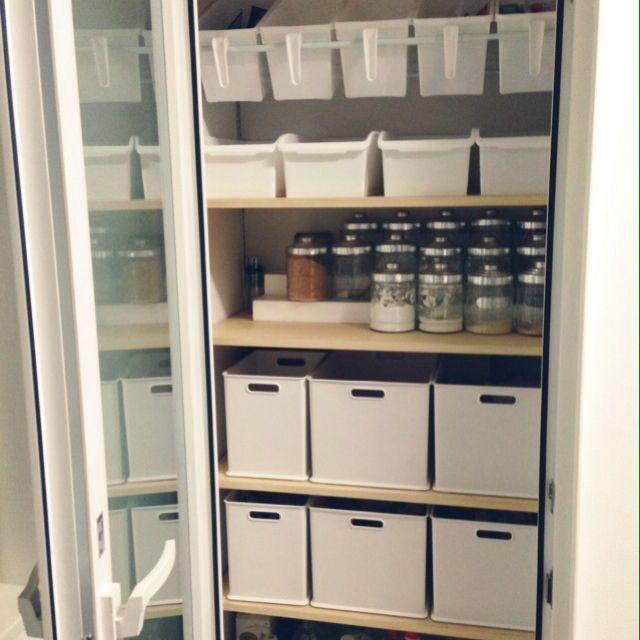 キッチン 食品庫 収納 パントリー パントリー内部 などのインテリア