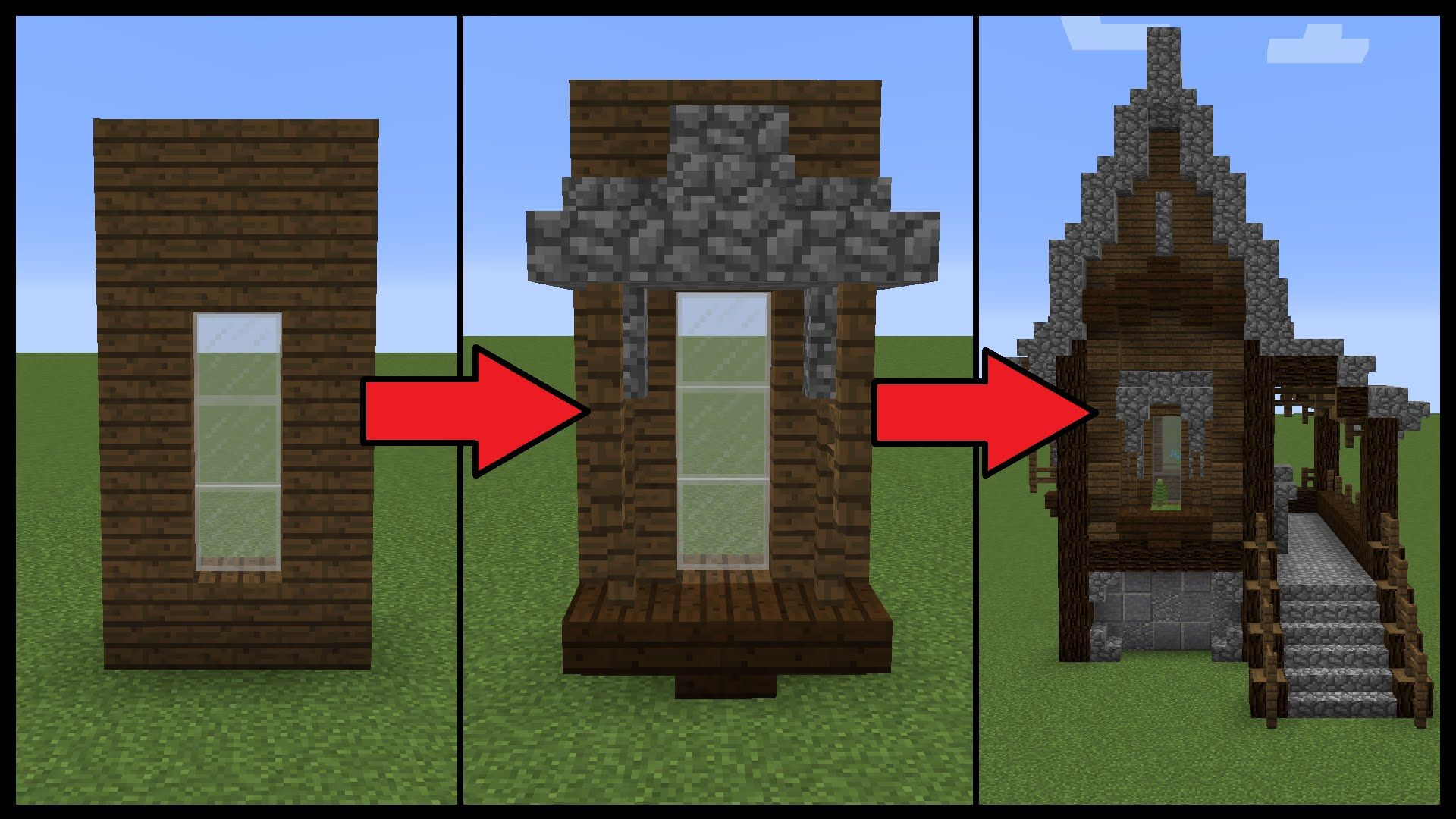 How To Make Better Windows On Your Minecraft House Today I Will