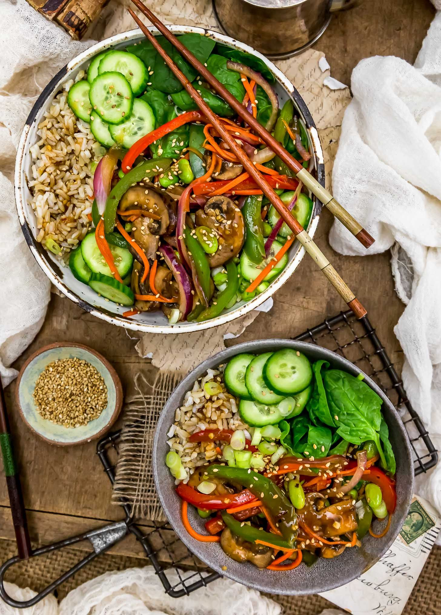 Asian Veggie Bowl Monkey And Me Kitchen Adventures Recipe Oil Free Vegan Recipes Veggie Bowl Whole Food Recipes