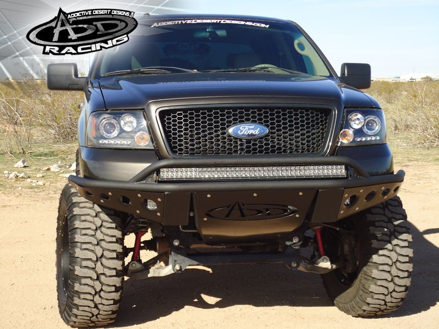 Ford F 150 With Custom Front Bumper Truck Bumpers Trucks