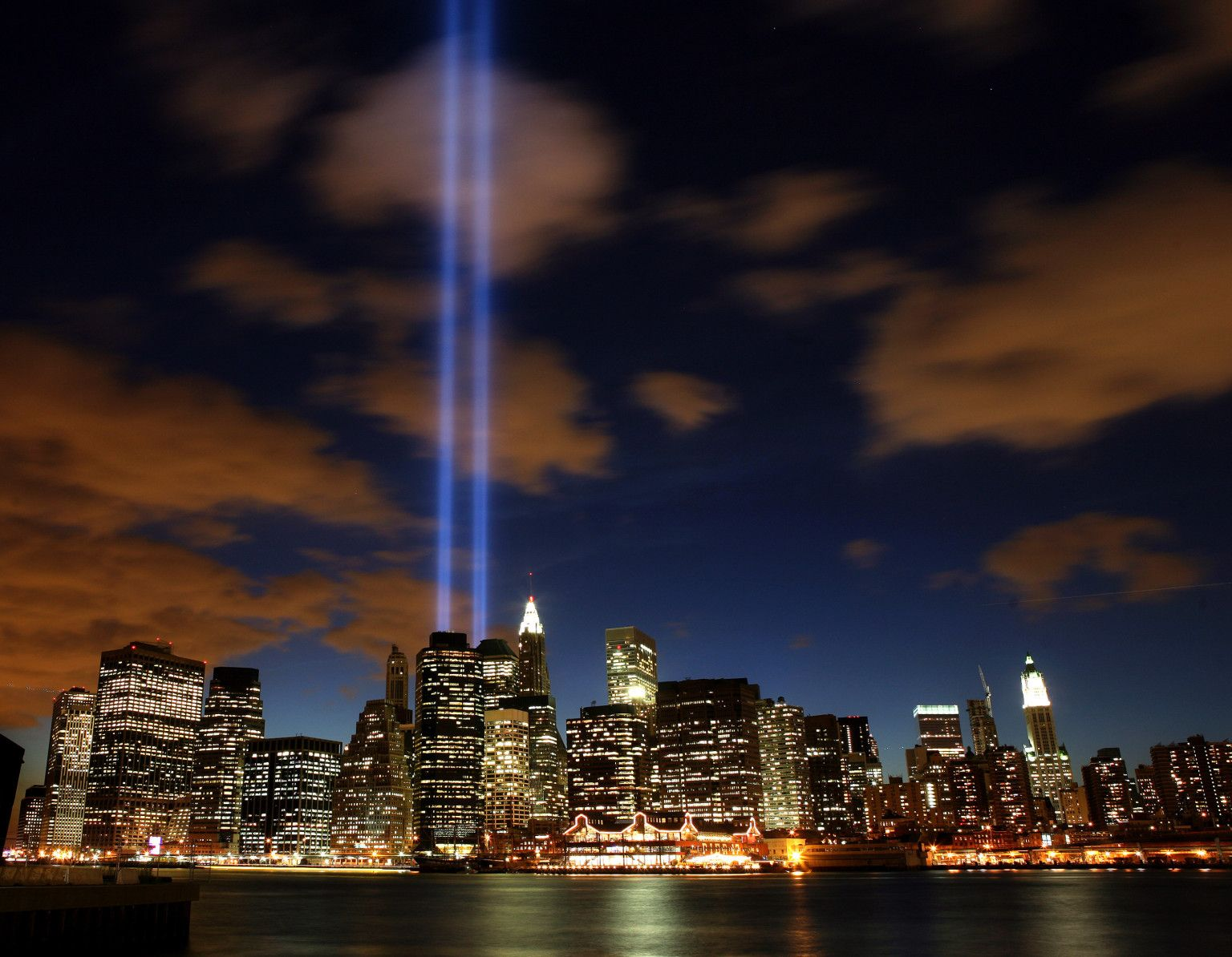 Every year on 911 two beams of