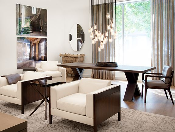 Wood Fabric Contrast 3 Holly Hunt Interior Furniture Modernist Furniture Interior Design Furniture