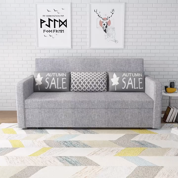 Grey Sofa Bed Transitional Couch Video In 2020 Bed Furniture Design Sofa Bed For Small Spaces Grey Sofa Living Room