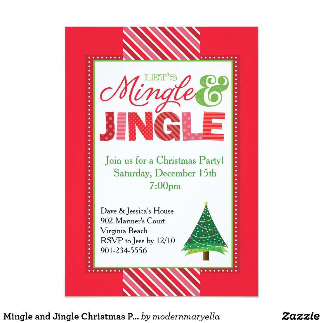 Mingle and Jingle Christmas Party Invitation | Party | Pinterest ...