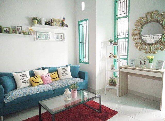 Desain Ruang Tamu Shabby Chic Minimalis Cantik Terbaru Ruangan