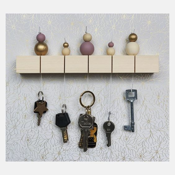 50 Unique Diy Key Holder Ideas To Put Waste Material To Good Use