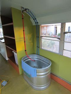Stock Tank Bathtub With No Enclosure Bus Pinterest