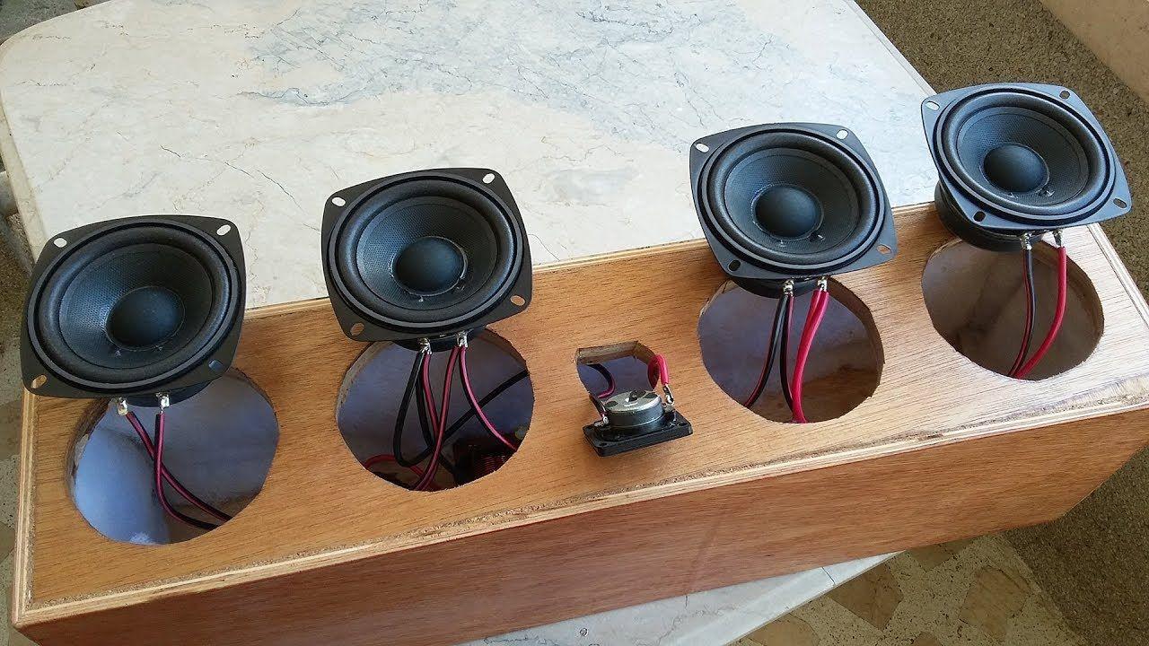 diy center speaker, 2 way crossover build and 4 speaker wiring