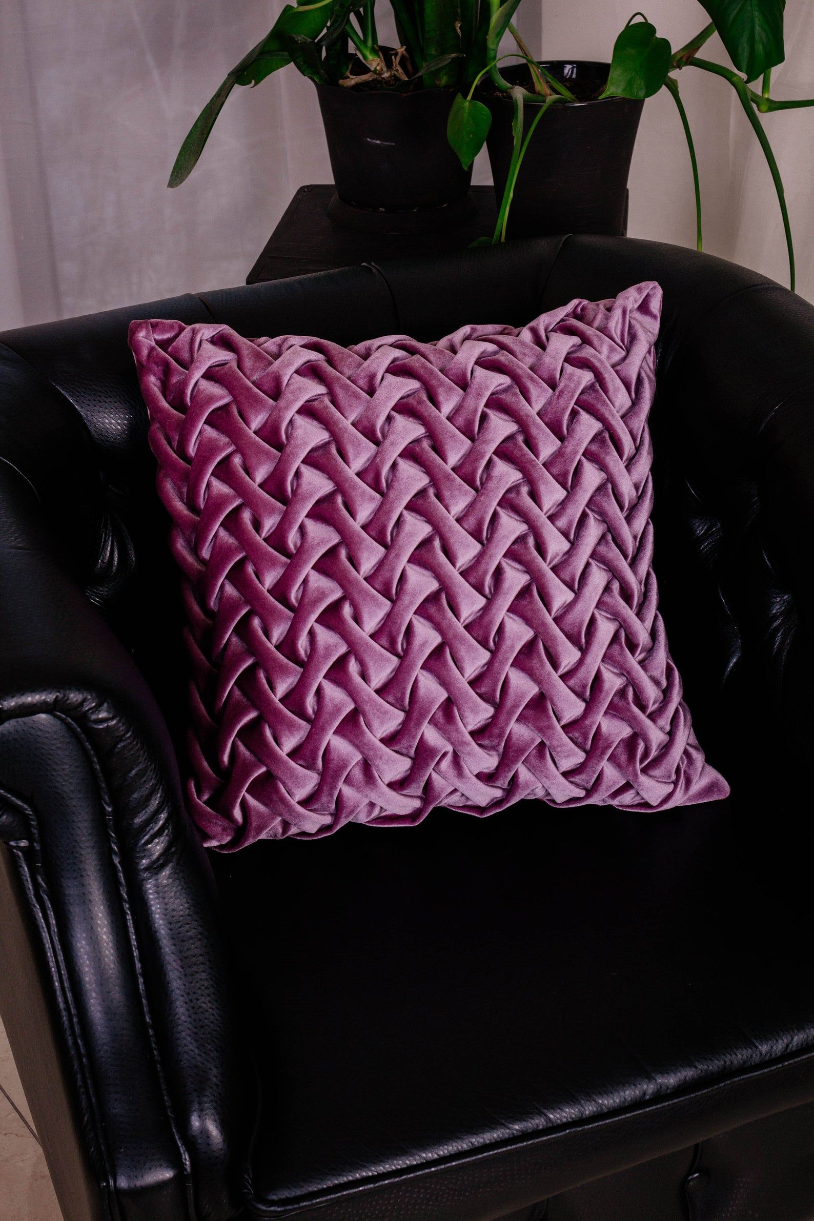Purple Throw Pillow Covers, 20x20 Velvet Pillow, Euro Sham