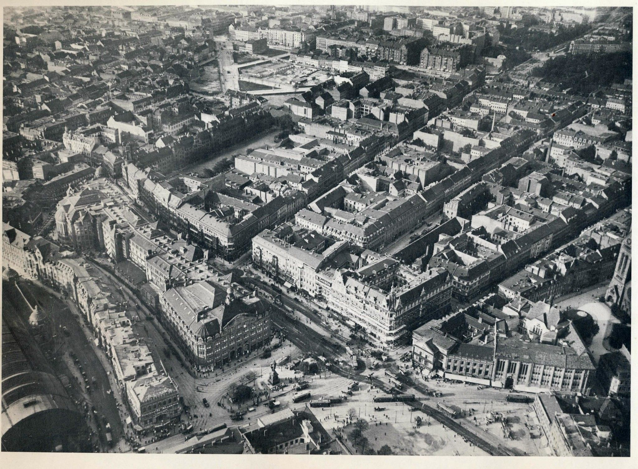 Historische Luftaufnahmen Berlin Alexanderplatz 1913 Berlin Berlin Germany Aerial Photograph