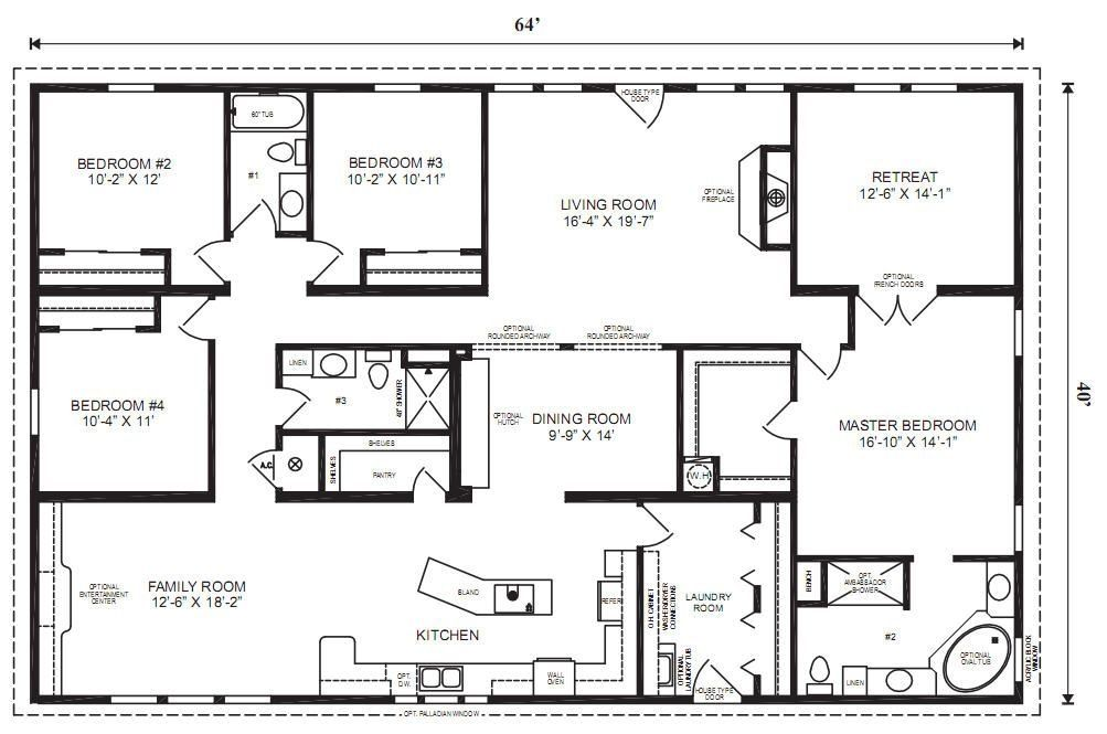 House Floor Plans 4 Bedroom 3 Bath ranch house floor plans 4 bedroom love this simple, no watered