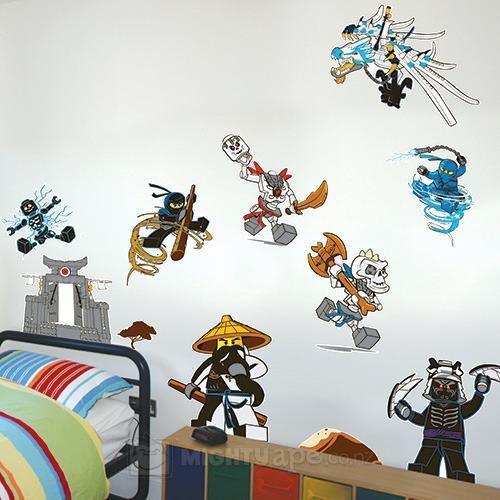 Astounding Lego Ninjago Wall Stickers Lego Room Decor Lego Wall Download Free Architecture Designs Scobabritishbridgeorg
