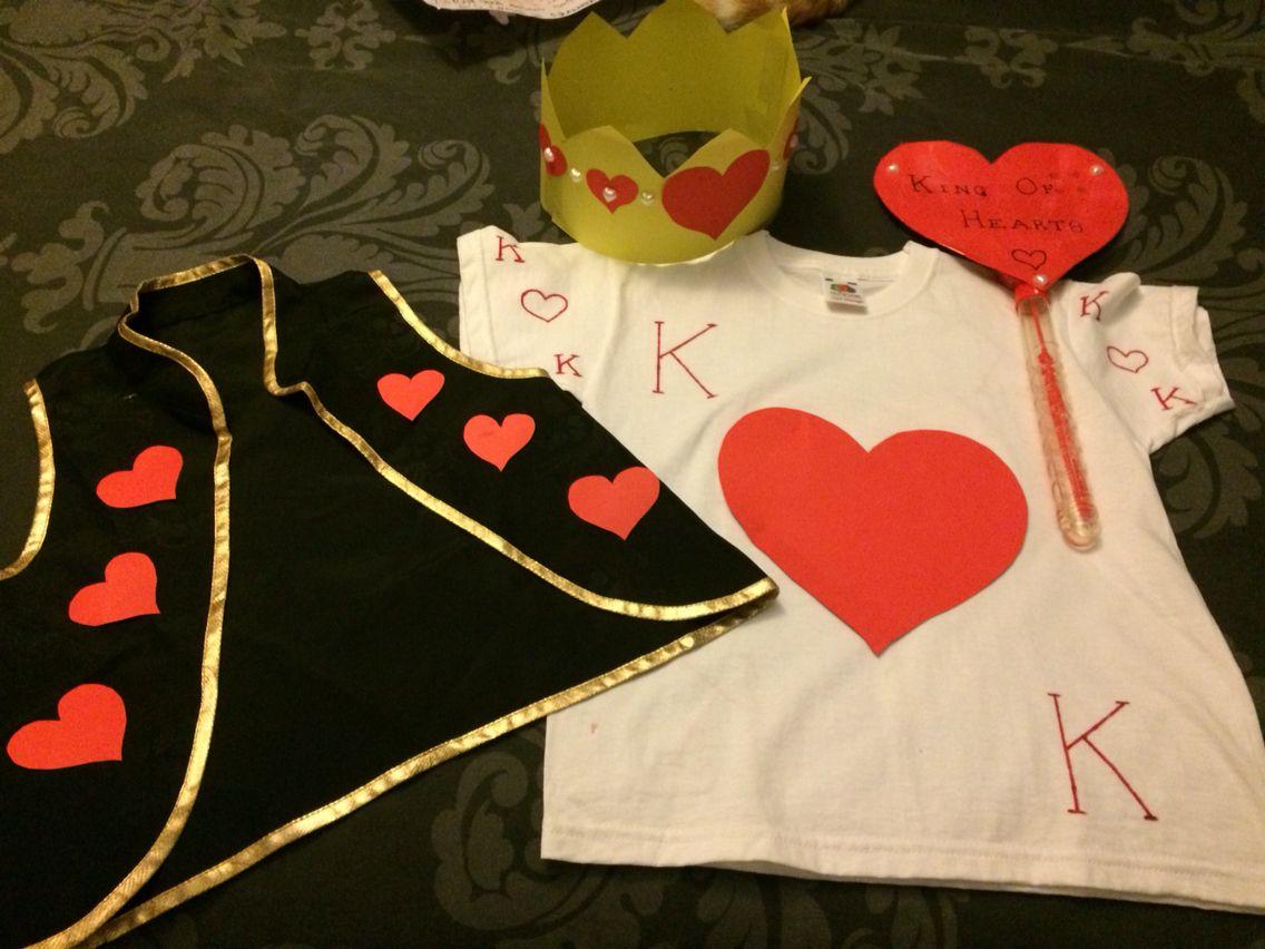 DIY King Of Hearts Fancy Dress Costume. Alice In Wonderland Fancy ...