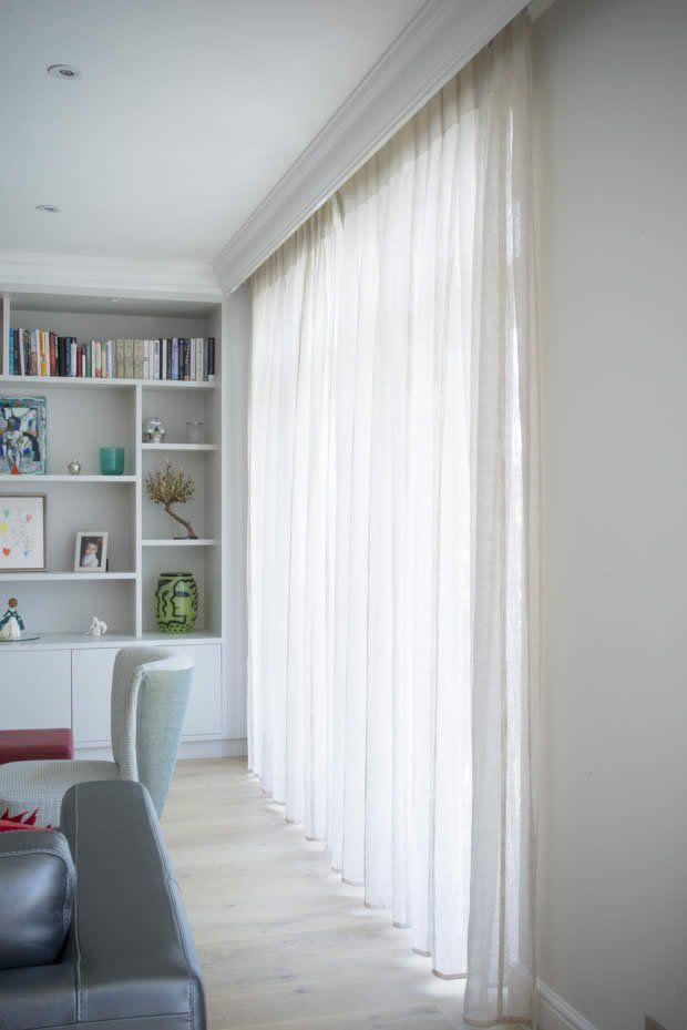 voile curtain with concealed header neat finish Sitting room