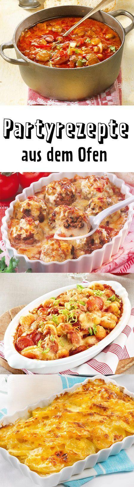 Partyrezepte aus dem Ofen - das Beste aus Auflaufform und Co. | LECKER #appetizersforparty
