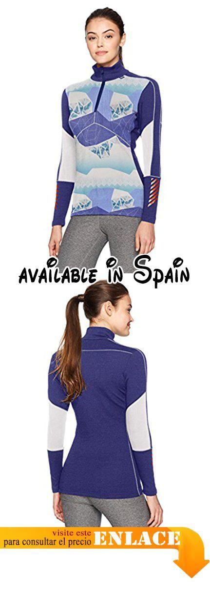 a6f7e21646 B06XHDDDVB   Helly Hansen W Hh Lifa 1 2 Zip Camiseta Deportiva para Mujer  Azul