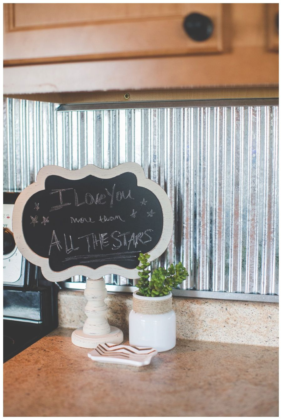 Corrugated Metal Backsplash For The Home Rustic