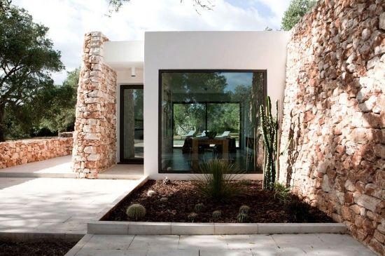 Casa moderna con revestimiento rústico escritórios pinterest