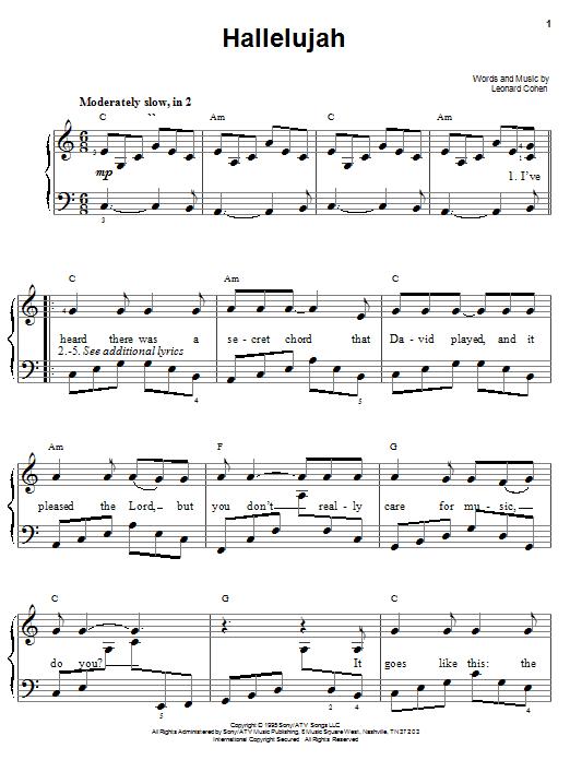 hallelujah rufus wainwright piano sheet music pdf