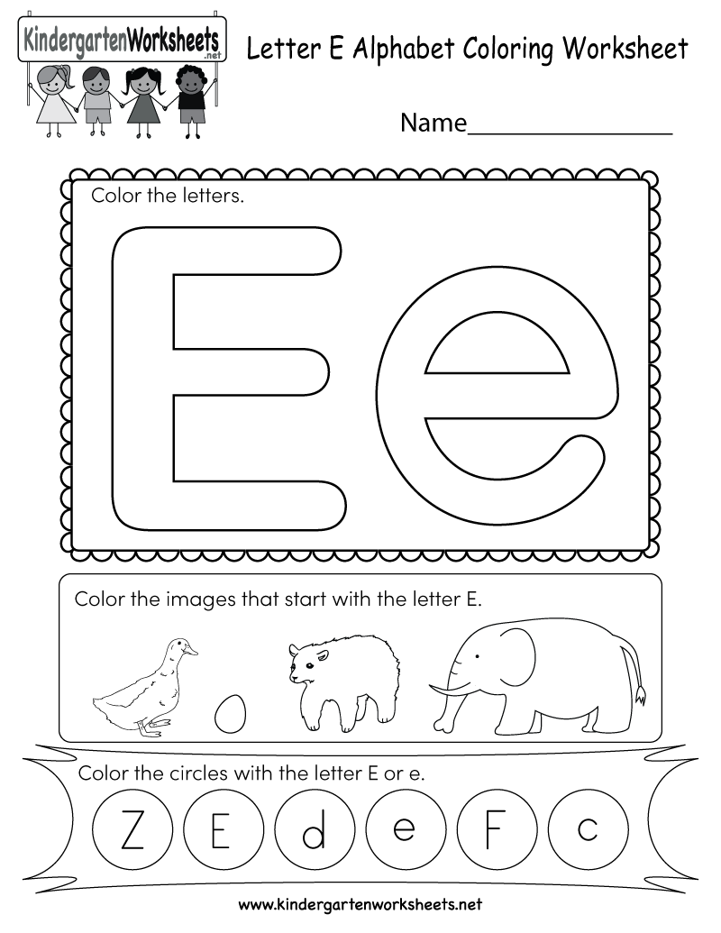 This Is A Fun Letter E Coloring Worksheet Kids Can Color The Uppercase And Lowercase Let Alphabet Worksheets Alphabet Worksheets Preschool Letter E Worksheets