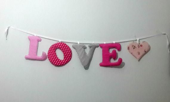 Baby Name Banner Nursery Wall Letters