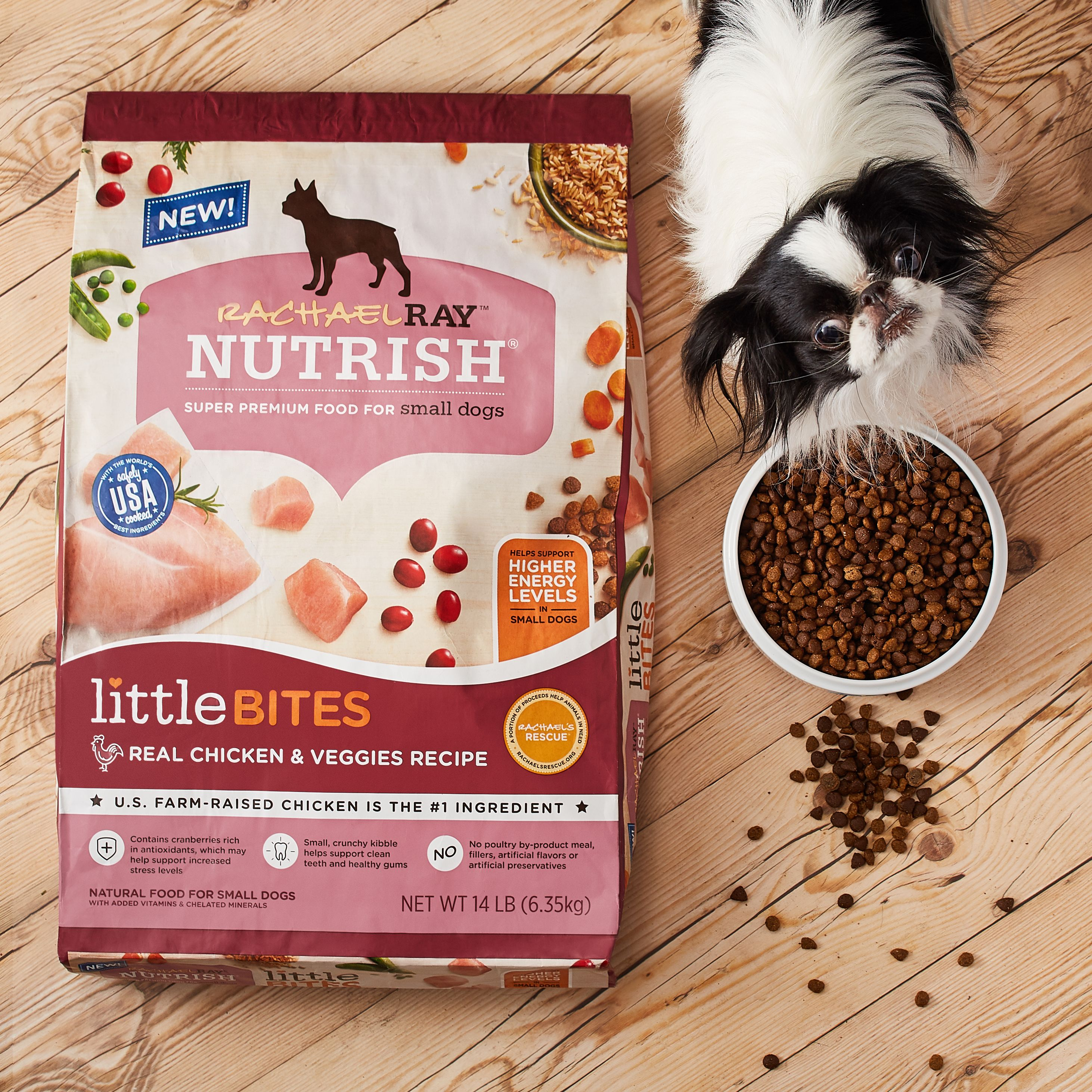 Rachael Ray Nutrish Little Bites Small Breed Natural Real Chicken Veggies Recipe Dry Dog Food Chewy Dry Dog Food Dog Food Recipes Puppy Food