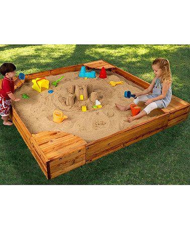 This Backyard Sandbox by KidKraft is perfect! #zulilyfinds ...