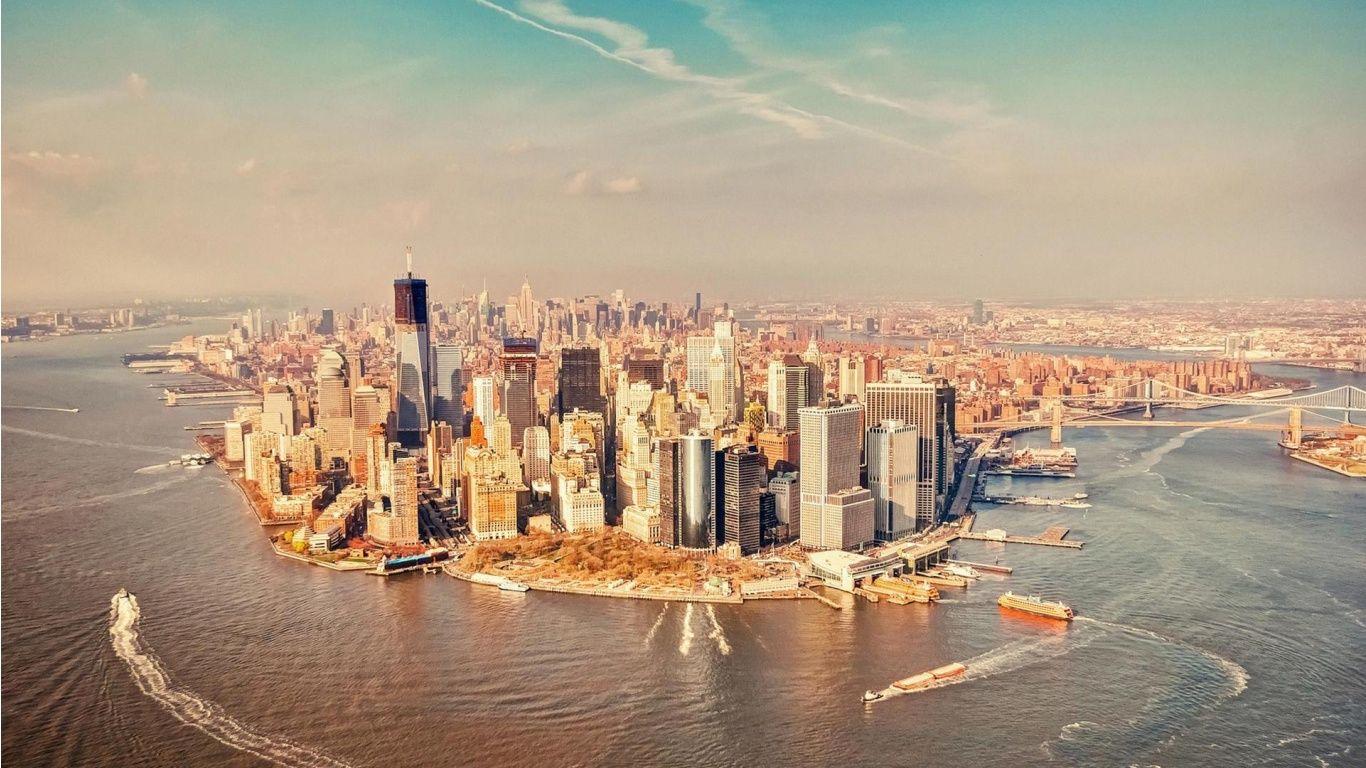Skyscraper City New York Wallpapers 1366x768 405192 New York City Manhattan New York Manhattan City