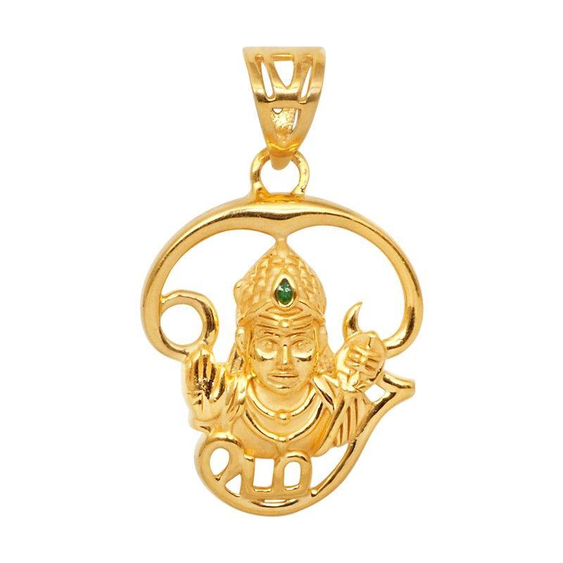 Lord muruga with tamil om 22kt gold pendant pendantsnecklaceand lord muruga with tamil om 22kt gold pendant aloadofball Gallery