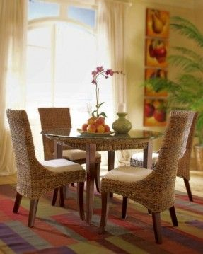 Rattanmöbel esszimmer  Martinique Round Dining Group and Individual Pieces : | Rattan ...