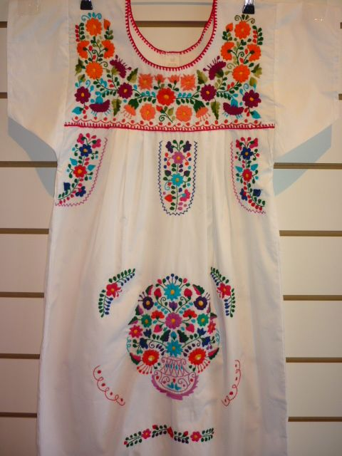 vestido mexicano branco