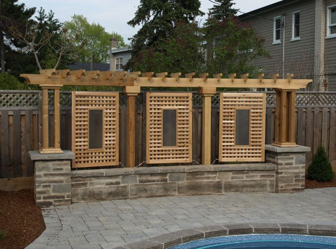 Deck with privacy privacy screens not just decks for Outdoor privacy fence screen