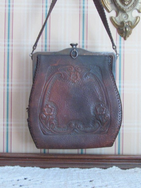 1900 S tooled leather purse and 2 more from 10 s and 20 s   Tooled ... 888051e043
