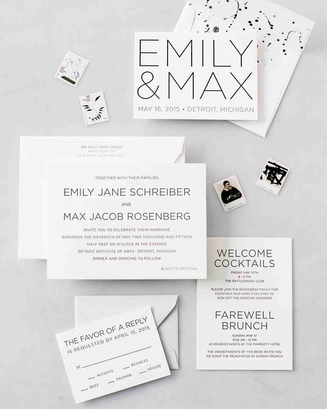 Charming The Freshest Spring Wedding Invitations | Martha Stewart Weddings   There  Is Something To Be Said