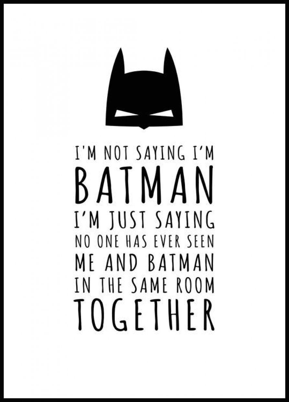 Batman Plakat I 2020 Batman Hakuna Matata Plakater
