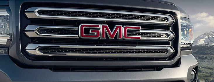 All-new 2015 Canyon small pickup truck features a distinctive chrome grille