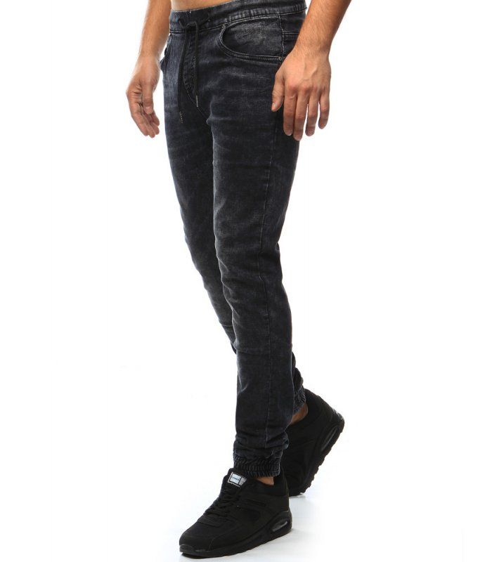 Čierne džínsové pánske joggery