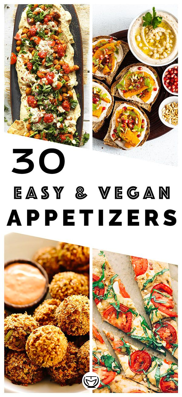 Photo of 50 DELICIOUS AND EASY VEGAN APPETIZERS – The clever meal