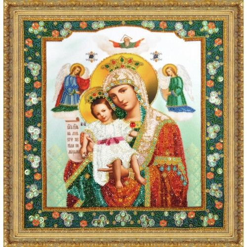 Beaded Embroidery kit Icon Mother of God Virgin Mary ...