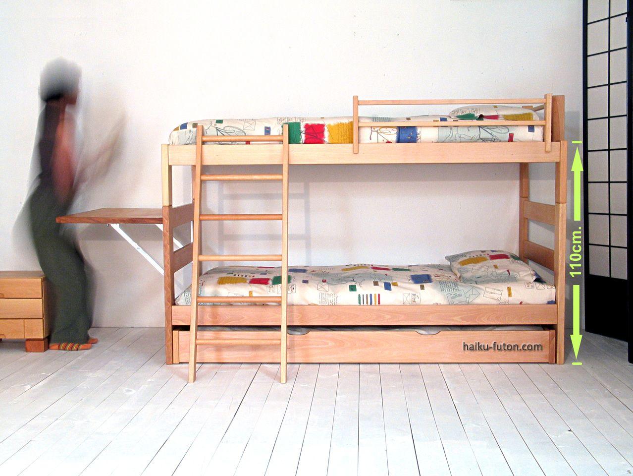 Literas de madera infantiles y juveniles barniz eco haiku beds kids pinterest - Haiku futon ...