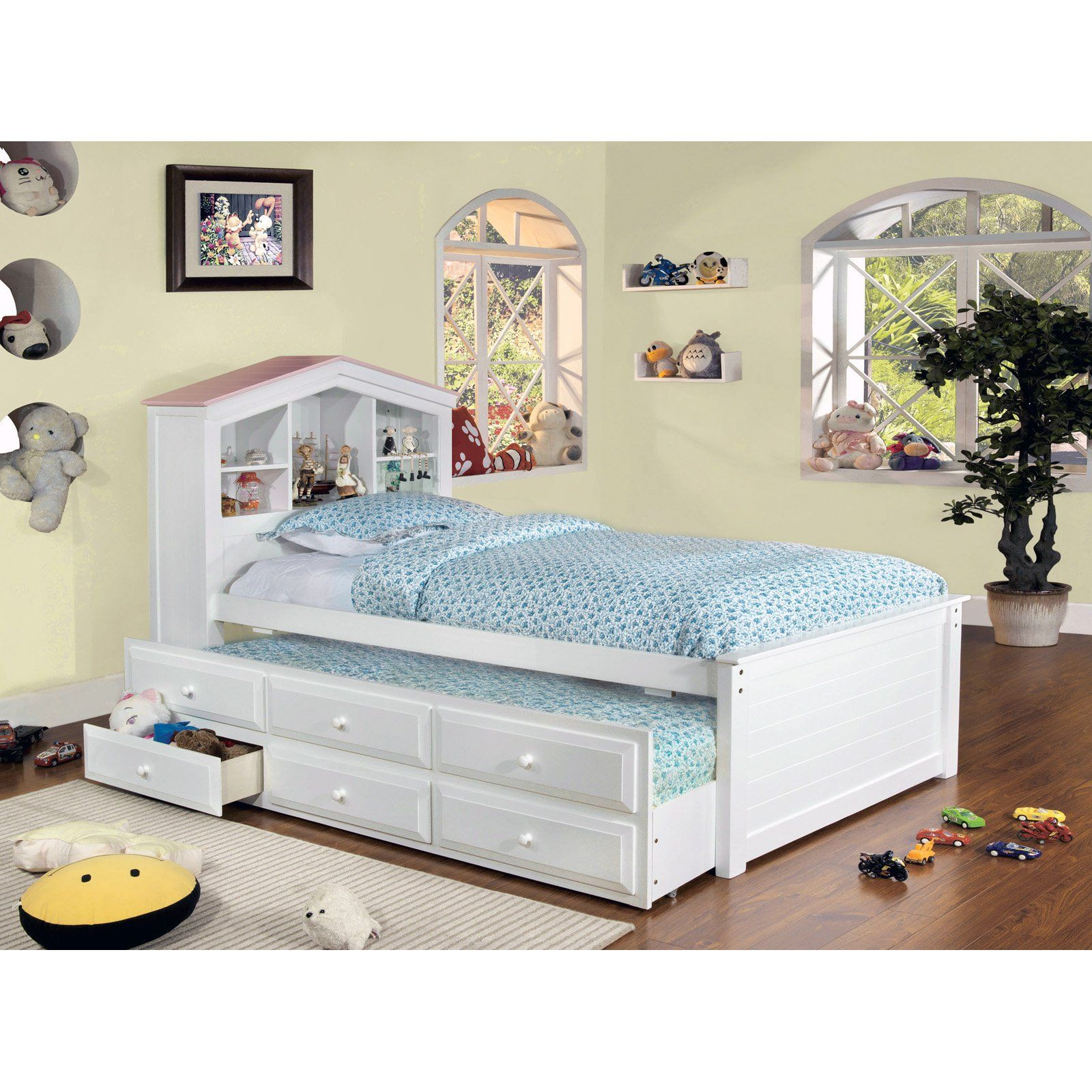 Have to have it. Dollhouse Twin Storage Bed with Trundle