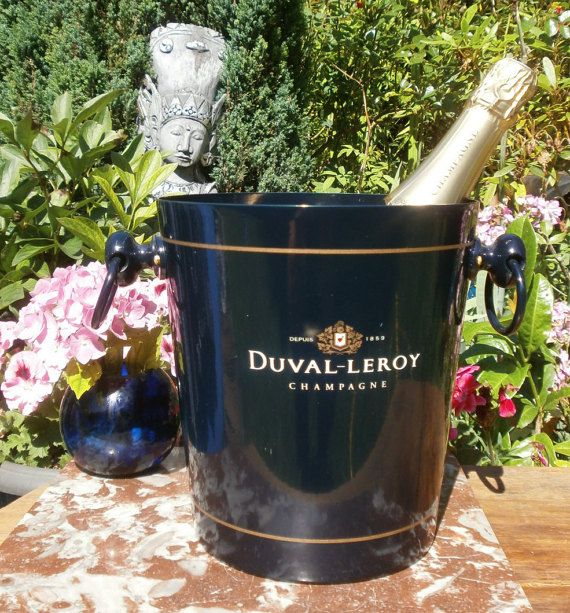 vintage seau champagne duval leroy french ice bucket champagne duvel leroy champagne and. Black Bedroom Furniture Sets. Home Design Ideas
