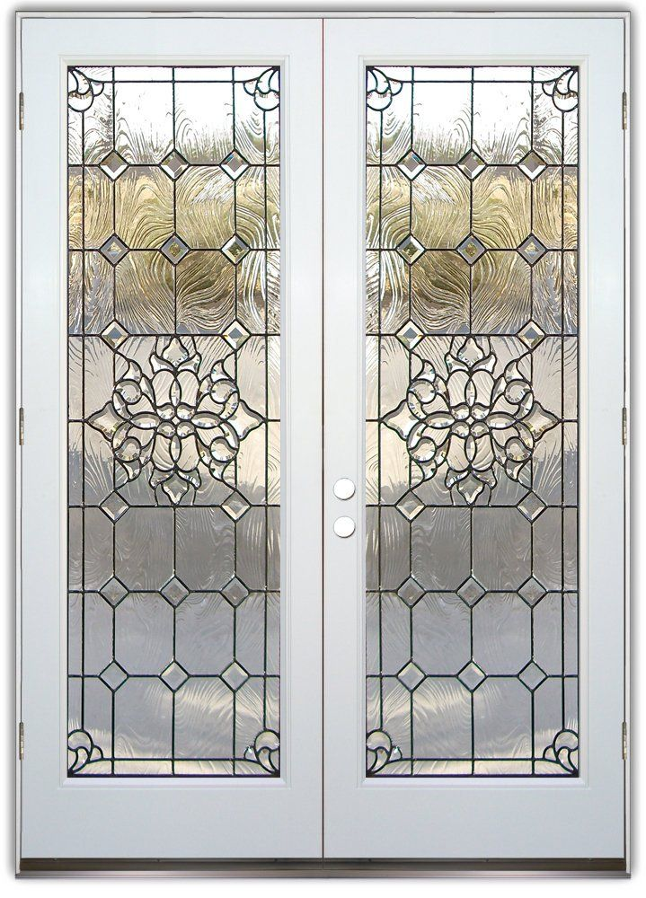 Glass Entry Doors Leaded Glass Beautiful Bevels Double Entry