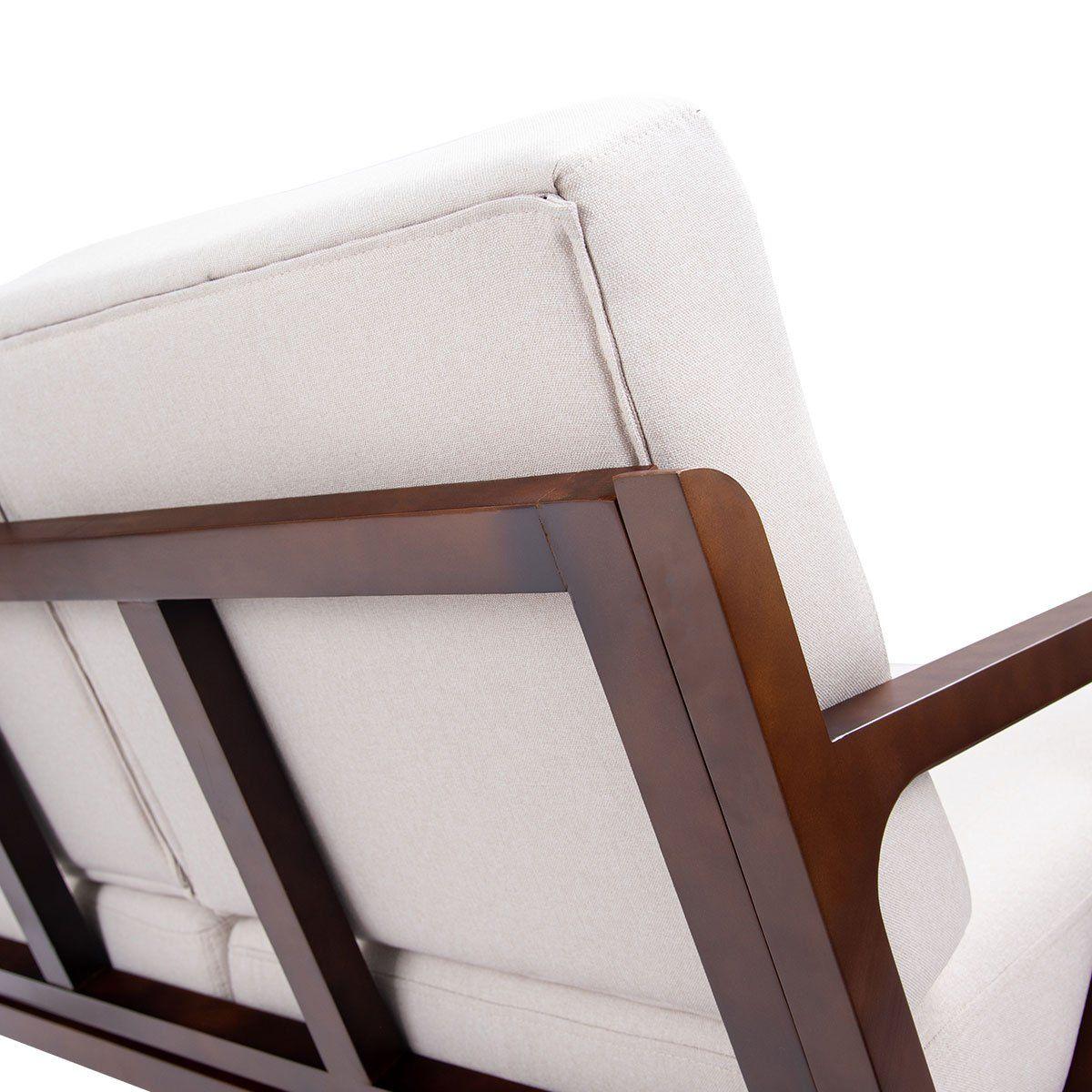 Giantex Loveseat Armchair Sofa Bench Fabric Upholstered ...