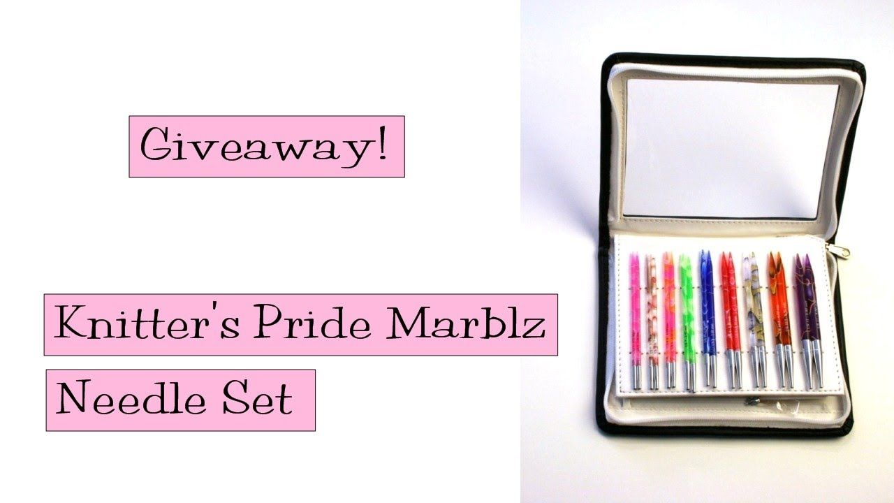 Giveaway!  Knitter's Pride Marblz Needle Set. Enter by February 17!
