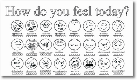 How Do You Feel Today Character How Are You Feeling Teaching