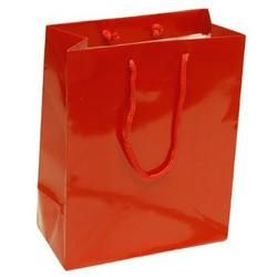 Red 25pk Colored Glossy Party Favor Gift Wrap Bags Medium 8 X 4 X 10 Inches Gifts Party Favors