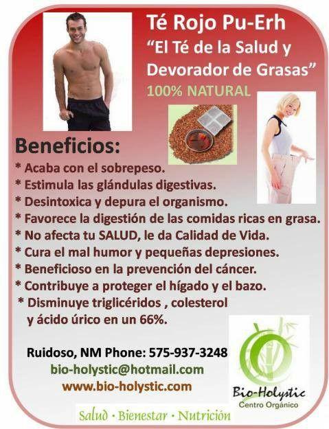Beneficios te rojo bajar de peso