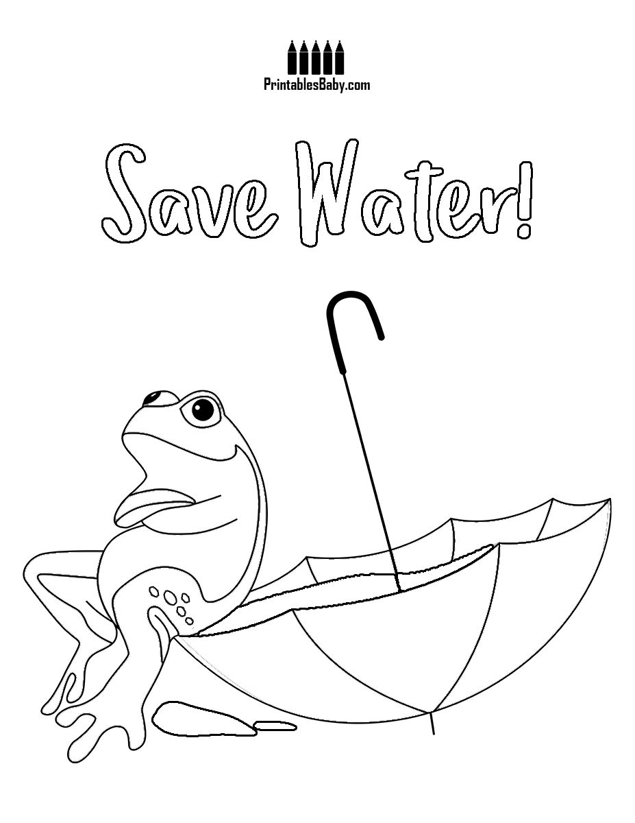 Saves Water Frog Printable Frog Coloring Pages Coloring Pages